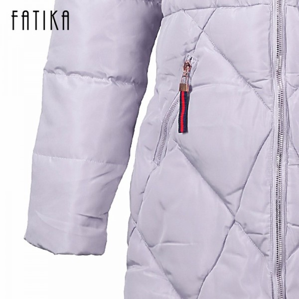 Winter Women Thick Parka Cotton Padded Fur Collar Hooded Parkas Plus Size Casual Slim Long Wadded Jackets for Woman Extra Image 6