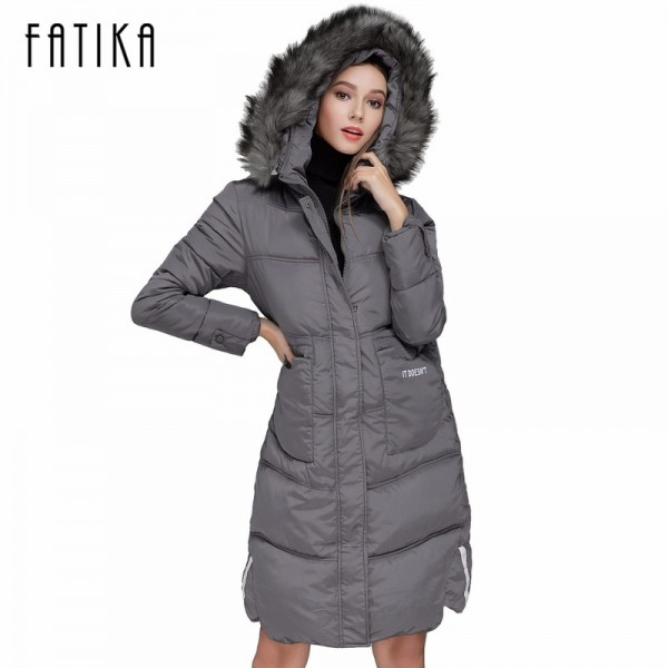 Winter Women Warm Parka Cotton Padded Fur Collar Hooded Parkas Plus Size Casual Wadded Jackets Outwear for Woman Extra Image 1