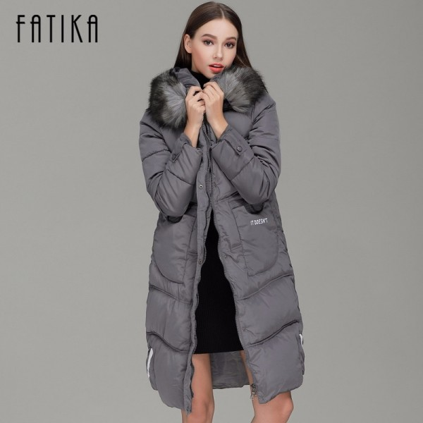 Winter Women Warm Parka Cotton Padded Fur Collar Hooded Parkas Plus Size Casual Wadded Jackets Outwear for Woman Extra Image 2