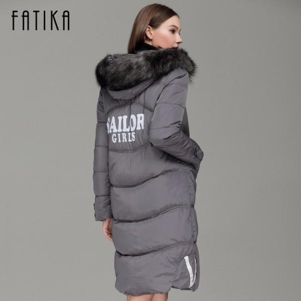 Winter Women Warm Parka Cotton Padded Fur Collar Hooded Parkas Plus Size Casual Wadded Jackets Outwear for Woman Extra Image 4