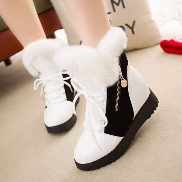 Women Autumn Winter Ankle Boots Winter Shoes Woman Snow Boots Ladies Work Shoe Female Plus Size Footwear