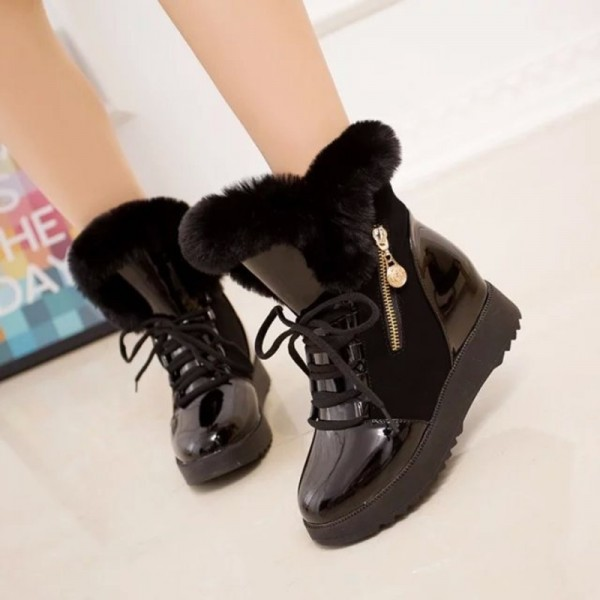 Women Autumn Winter Ankle Boots Winter Shoes Woman Snow Boots Ladies Work Shoe Female Plus Size Footwear Extra Image 4