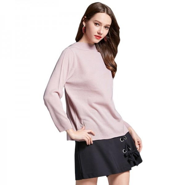 Women Casual Loose Knitted Pullovers Sweaters Solid Color Thin Female Sweater For Winter Season Extra Image 1