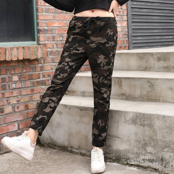 Women Casual Pants Elastic Spring Military Slim Fit Joggers Casual Elegant Pants Thumbnail