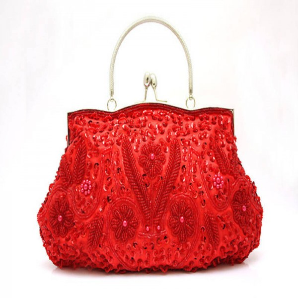 Women Clutch Bags Evening Exquisite Las Embroidered Wedding Party Bridal Handbags Wristlet For