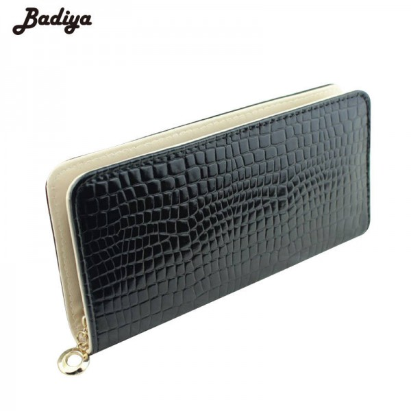 Women Clutch New Fashion Pu Leather Wallets Long Stone Grain Coin Purse Mobile Bags ID Holders Thumbnail