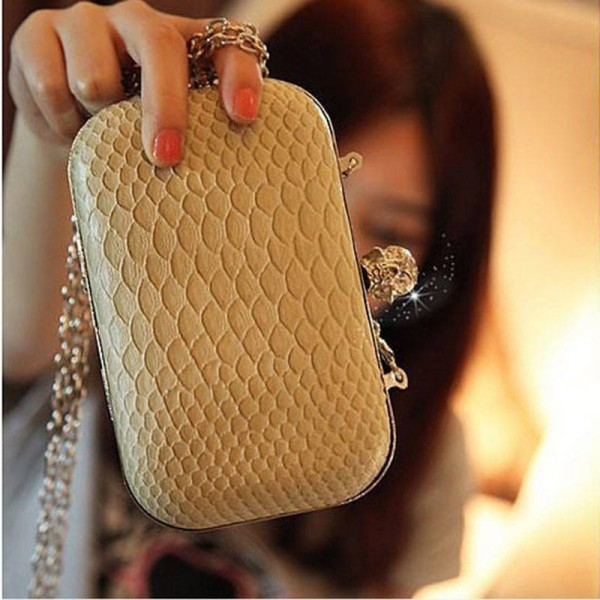 Women Handbag Wallet Serpentine Skull Clutch Crossbody Small Mobile Phone Wallet Designer Women Thumbnail
