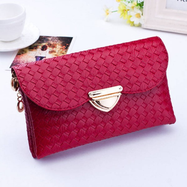 Women Leather Handback Clutches Chain Messenger Bags For Women Thumbnail