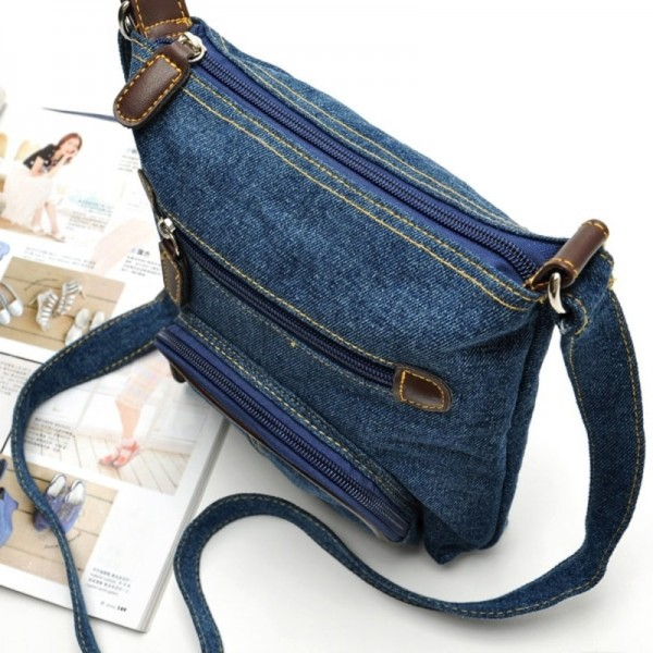 Women Messenger Bags Ladies Small Shoulder Bag Satchels Girls Crossbody Summer Sling Vintage Denim Bags Extra Image 2