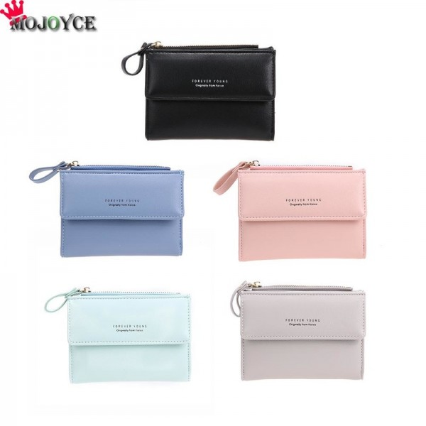 Women Mini Wallets Female Short Money Wallets PU Leather Lady Zipper Coin Purses Fashion Card Holders Extra Image 2