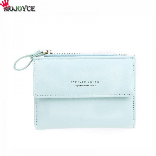 Women Mini Wallets Female Short Money Wallets PU Leather Lady Zipper Coin Purses Fashion Card Holders Extra Image 3