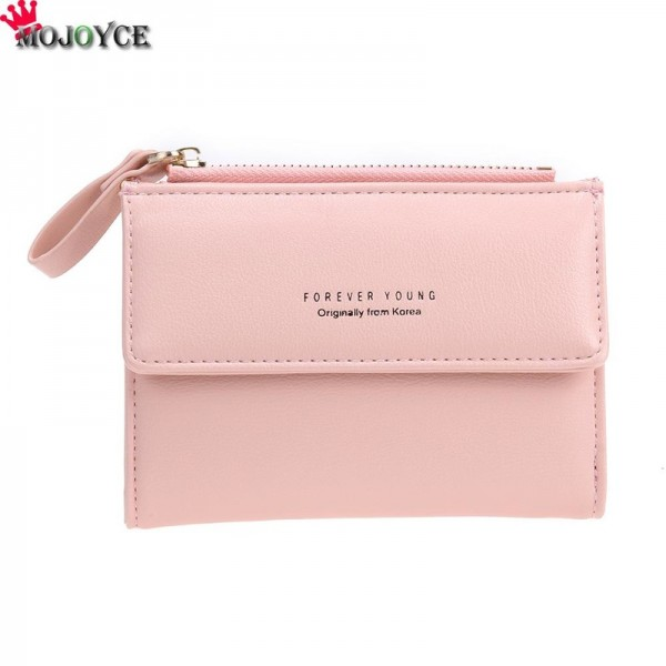 Women Mini Wallets Female Short Money Wallets PU Leather Lady Zipper Coin Purses Fashion Card Holders Extra Image 5
