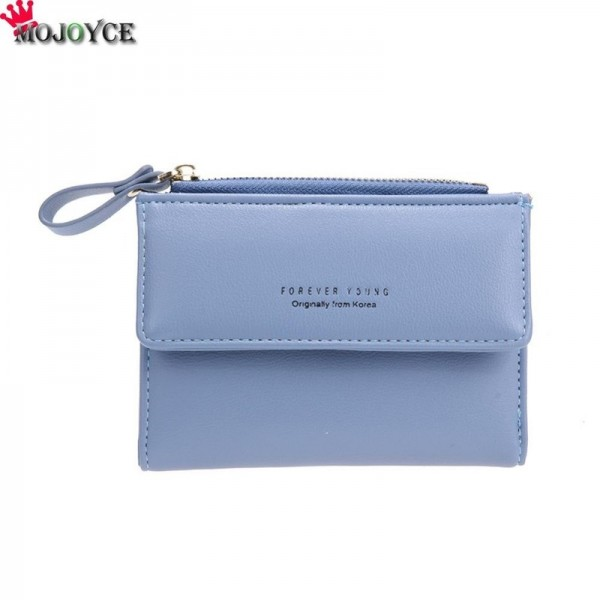 Women Mini Wallets Female Short Money Wallets PU Leather Lady Zipper Coin Purses Fashion Card Holders Extra Image 6