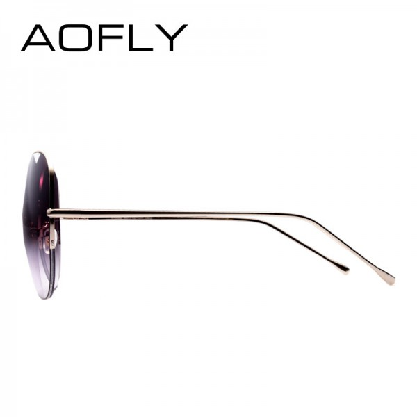 Women Oversize Sunglasses Metal Semi Rimless Glasses Fashion Vintage Summer Style Outdoor Sport Sunglasses Men Extra Image 4