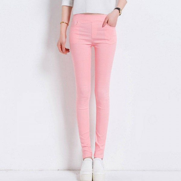 Women Pants Candy Color Skinny Stretch Pencil Trousers Latest Design New Thumbnail