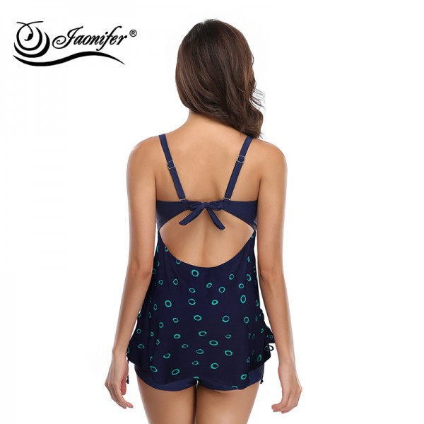 Women Plus Size Swimwear Swimsuit Push Up Swimsuit Print Floral Swimwear Big Cup Beachwear Backless Bathing Suit Extra Image 3