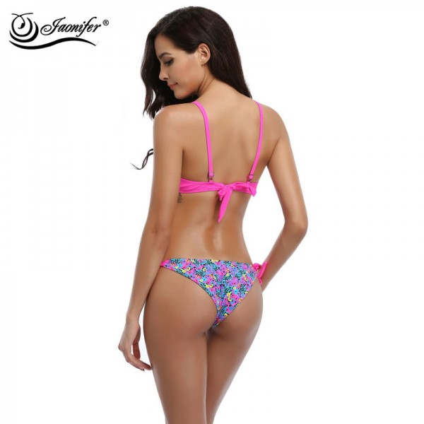 Women Print Bikini 2018 Sexy Micro Low Waist Bikinis Push up Swimsuit Swimwear Swimming Bathing Suits Brazilian Bikinis Extra Image 5