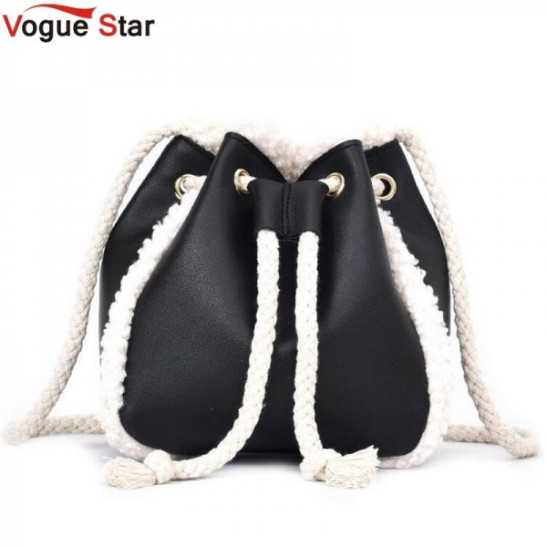 Women Pu Suede Soft Leather Bag Vintage Women Messenger Bag Shoulder Backpack Bucket Female Winter Bag Extra Image 1