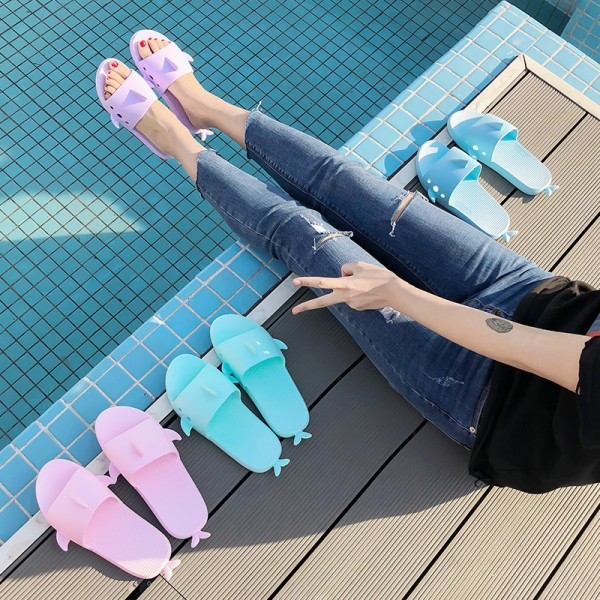 Women Slippers Cartoon Fish Shark Whale Summer Home Slippers Platform Sandals Women Shoes Couple Lovers Slippers Extra Image 4