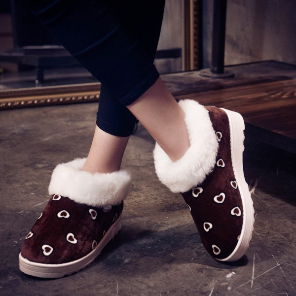 Women Snow Boots Winter Warm Fur Ankle Boots Thick Sole Cotton Shoes Woman Flats Anti Skid Female Shoes Extra Image 2