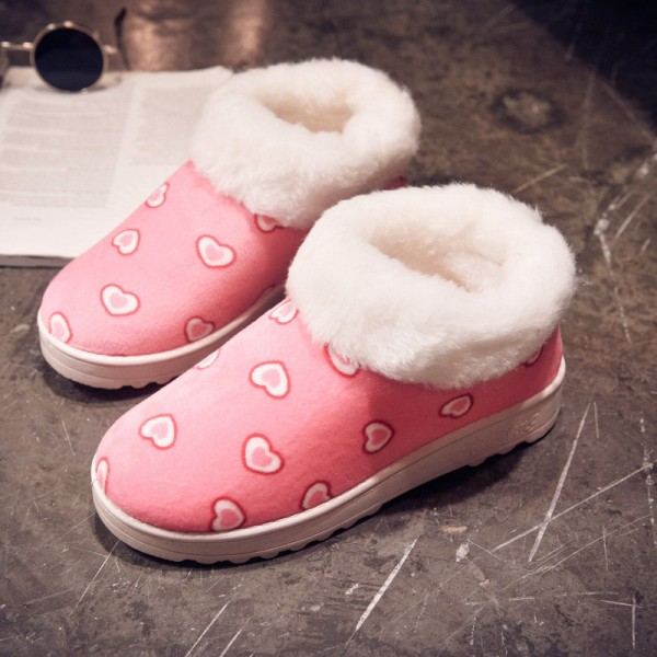 Women Snow Boots Winter Warm Fur Ankle Boots Thick Sole Cotton Shoes Woman Flats Anti Skid Female Shoes Extra Image 3