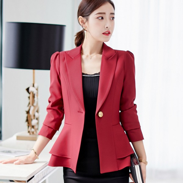 Women Suit  Short Blazer Coat Long Sleeves Suits Female Coat Slim Blazers Formal Fashion Office Jacket Femme Blazer