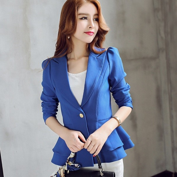 Women Suit  Short Blazer Coat Long Sleeves Suits Female Coat Slim Blazers Formal Fashion Office Jacket Femme Blazer Extra Image 1