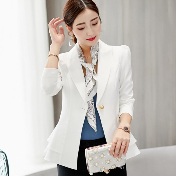 0a90f1c2e9 Women Suit Short Blazer Coat Long Sleeves Suits Female Coat Slim Blazers  Formal Fashion Office Jacket Femme Blazer
