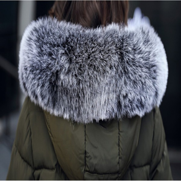 Women Winter Coat Jacket Thick Warm Woman Parkas Medium Long Female Overcoat Fur Collar Hooded Cotton Padded Coats Extra Image 5