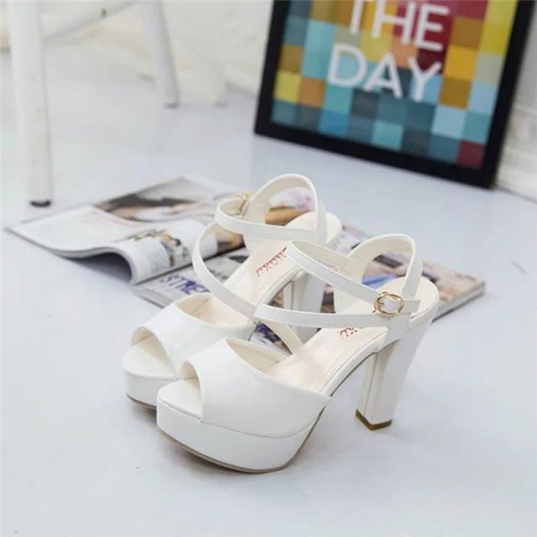 Womens Autumn Casual Wedge Vintage Ankle Strap High Heel Platform Pump Shoes Casual Loafers Sandals Shoes Extra Image 4