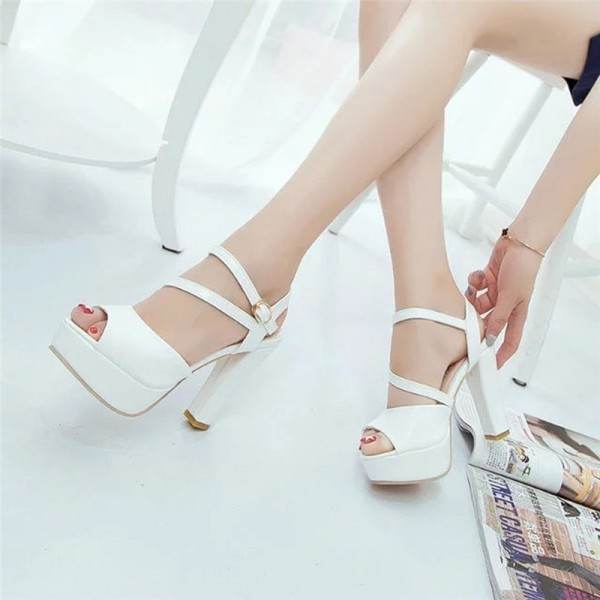 Womens Autumn Casual Wedge Vintage Ankle Strap High Heel Platform Pump Shoes Casual Loafers Sandals Shoes Extra Image 6