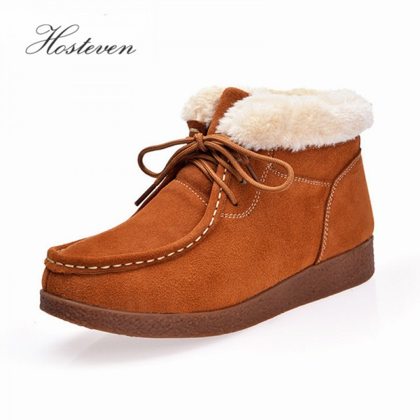 Womens Boots New Platform Shoes Woman Lace Up Ankle Boots Fashion Casual Autumn Winter Womens Shoes Extra Image 1