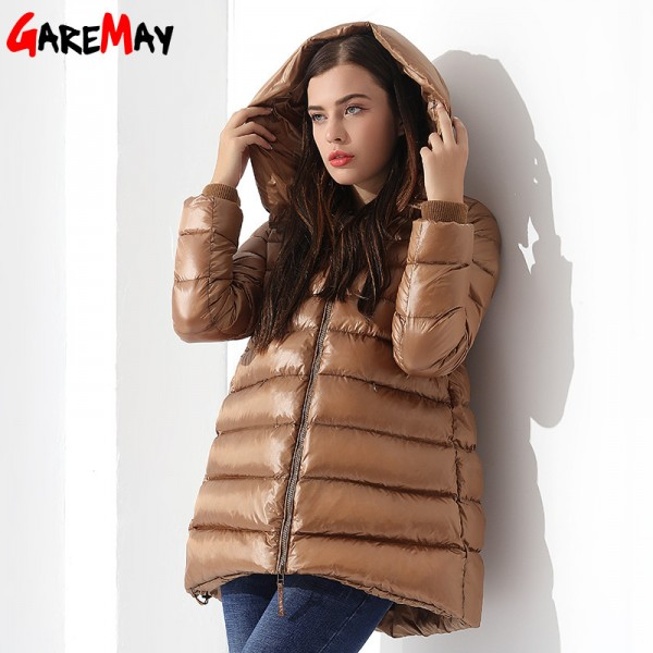 Womens Down Jackets Winter Coat Feather Jacket Down Parka Loose Womens Coats Hooded Outwear Casual Clothing For Women Extra Image 2