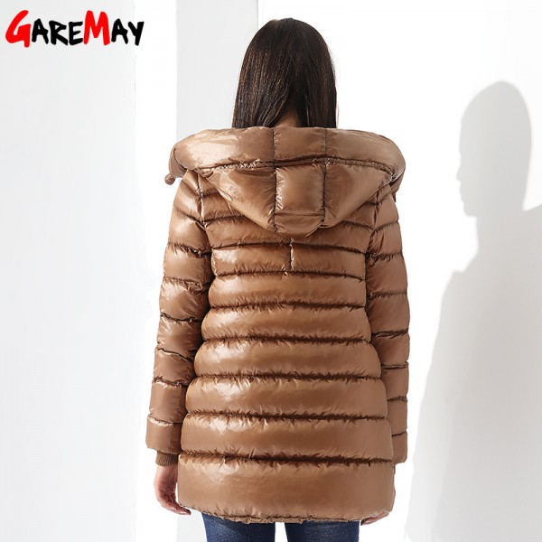 Womens Down Jackets Winter Coat Feather Jacket Down Parka Loose Womens Coats Hooded Outwear Casual Clothing For Women Extra Image 3