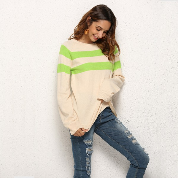 womens sweaters for winter 2019 fashion striped slim pullovers female clothes long sleeve knitted sweater jumpers Extra Image 2