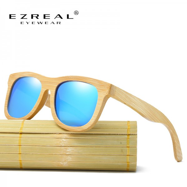 Wooden Sunglasses Polarized Bamboo brand sun glasses Vintage Wood Case Beach Sunglasses for Driving gafas de sol
