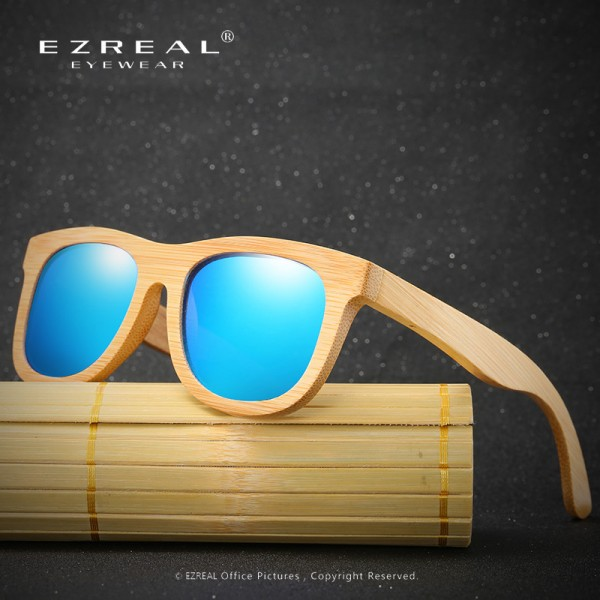 Wooden Sunglasses Polarized Bamboo brand sun glasses Vintage Wood Case Beach Sunglasses for Driving gafas de sol Extra Image 2