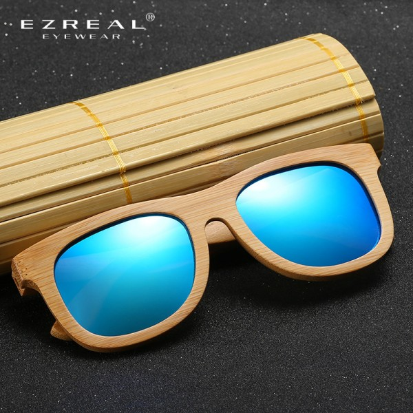 Wooden Sunglasses Polarized Bamboo brand sun glasses Vintage Wood Case Beach Sunglasses for Driving gafas de sol Extra Image 3
