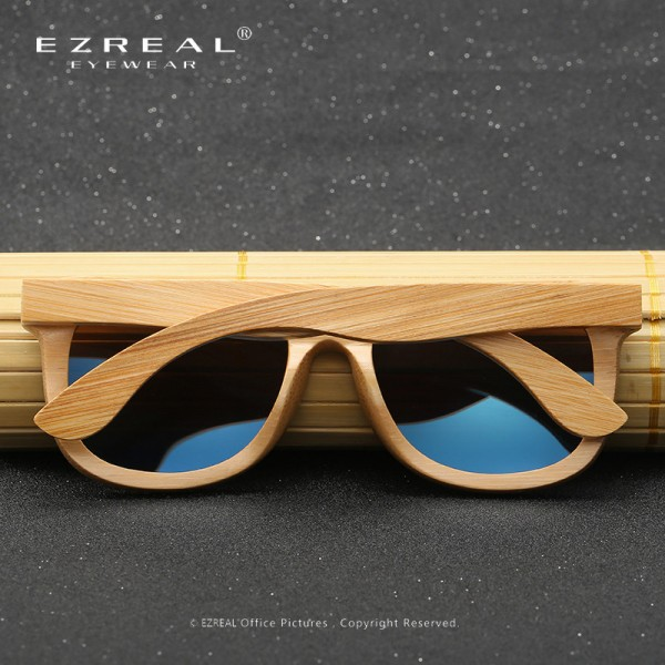 Wooden Sunglasses Polarized Bamboo brand sun glasses Vintage Wood Case Beach Sunglasses for Driving gafas de sol Extra Image 4