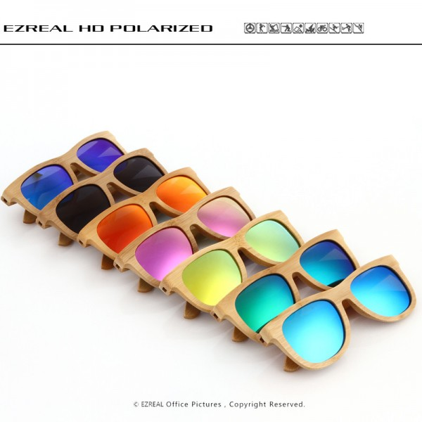 Wooden Sunglasses Polarized Bamboo brand sun glasses Vintage Wood Case Beach Sunglasses for Driving gafas de sol Extra Image 5