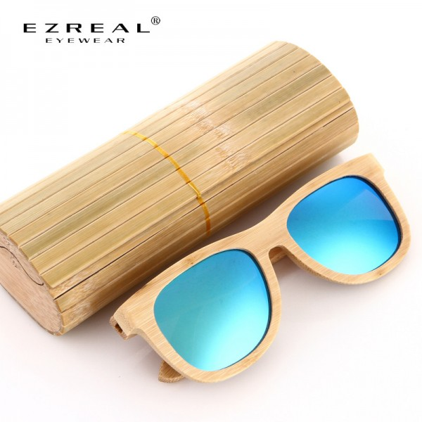 Wooden Sunglasses Polarized Bamboo brand sun glasses Vintage Wood Case Beach Sunglasses for Driving gafas de sol Extra Image 6