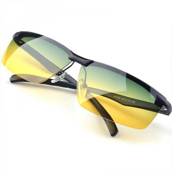 3aacb472d3b Yellow Night Vision Goggles Polarized Sunglasses Anti Glare Driving UV400  Protective Goggles For Men And Women ...