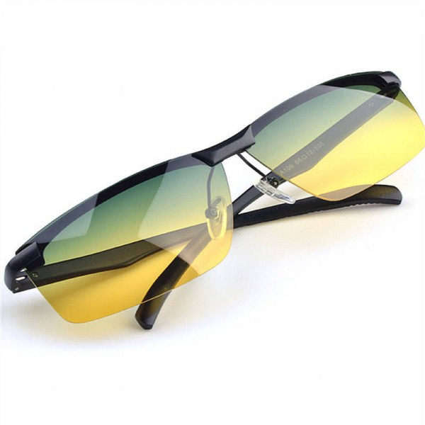 Yellow Night Vision Goggles Polarized Sunglasses Anti Glare Driving UV400 Protective Goggles For Men And Women Extra Image 1