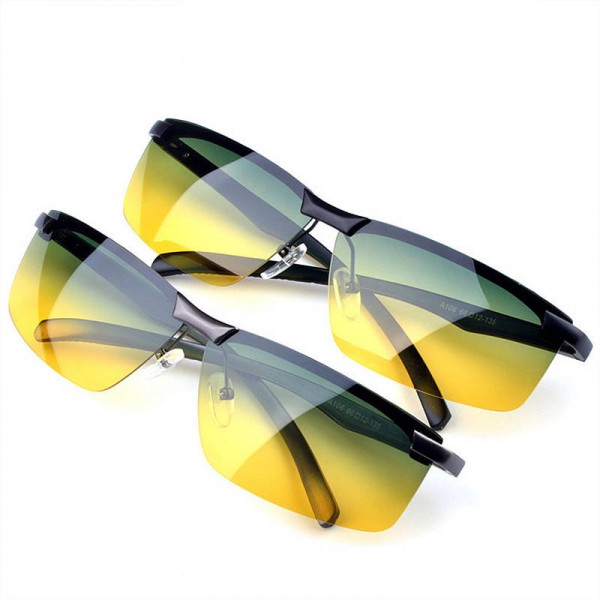 Yellow Night Vision Goggles Polarized Sunglasses Anti Glare Driving UV400 Protective Goggles For Men And Women Extra Image 5